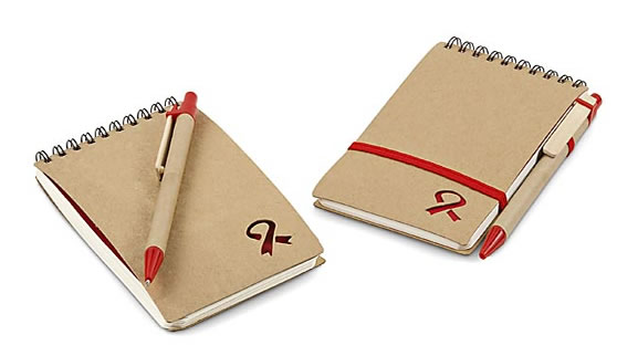 Aids Day Notebook And Pen Promotional Gifts