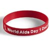 Aids Day Band -White on Red