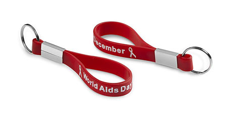 Silicone Keyring for AIDS Day